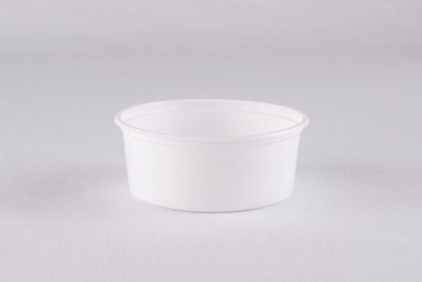 8 oz Empty White PP Deli Containers