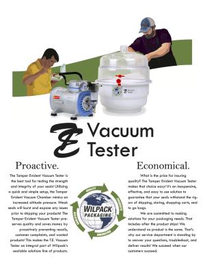 Wilpack TE Vacuum Tester - Brochure